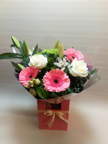 Pink & White Hand-Tied