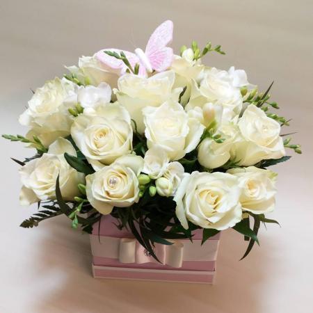 Rose & Freesia Hat box