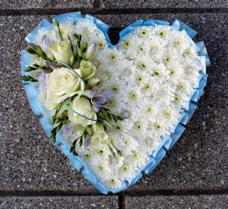 Fresh Flower Heart Wreath