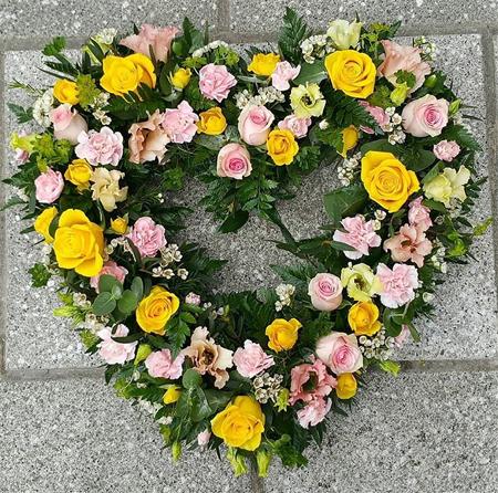 Fresh Flower Open Heart Wreath