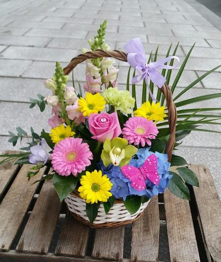 Bright Basket Arrangement