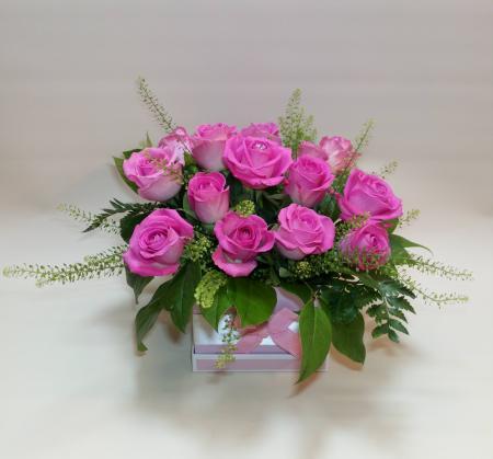 Pink Rose Hat Box